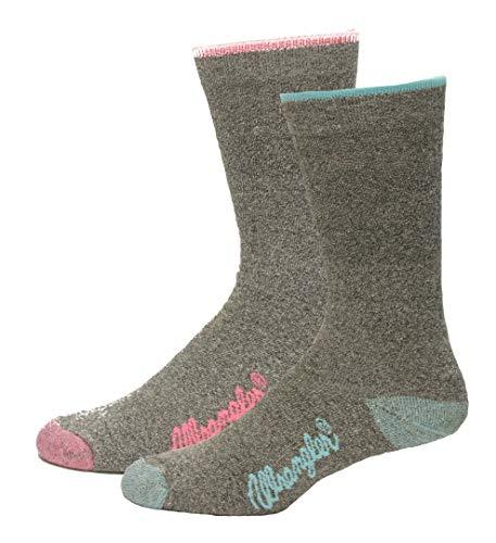 Wrangler Ladies CoolMax Full Cushion Marl Boot Socks, Assorted, (M) W 6-9, 2 Pair