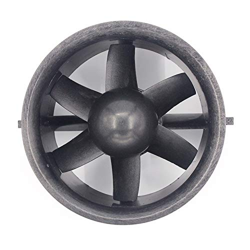 NO LOGO 1pc 70mm 6 Impeller Propeller mit gefasstem Barrel Brushless Motor Fan Fit for RC Drone Zubehör Quadcopter (Farbe : Full Set)