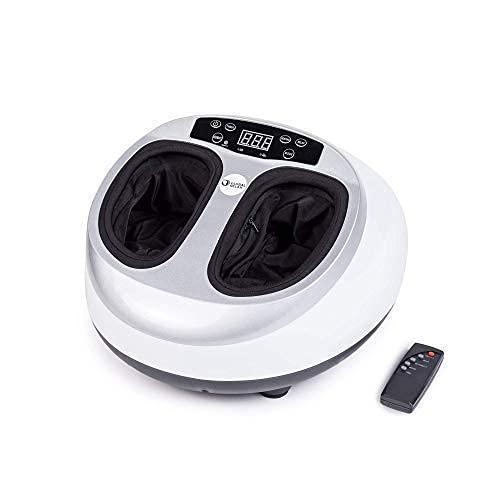 VITALZEN® MINI Fußmassagegerät - weiß (neues Modell 2021) - Multifunktionsmassage 360° - Drucktherapie - Reflextherapie - Thermotherapie - Linderung von Schmerzen und Verspannungen in müden Füßen