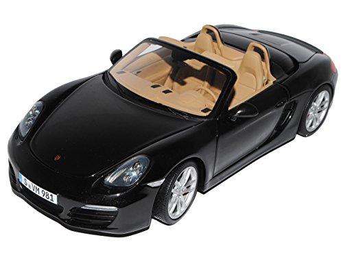 Minichamps Porsche Boxster S 981 Cabrio Schwarz Ab 2012 1/18 Modell Auto mit individiuellem Wunschkennzeichen