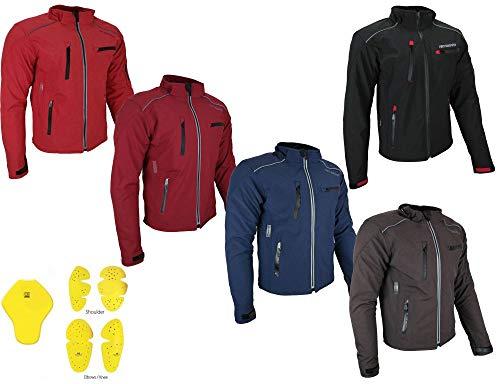 HEYBERRY Soft Shell Motorradjacke Textil Schwarz Gr. XL