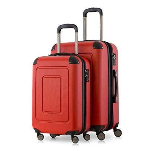 Happy Trolley Lugano Koffer-Set, 66 cm, 78.0 Liter, Rot