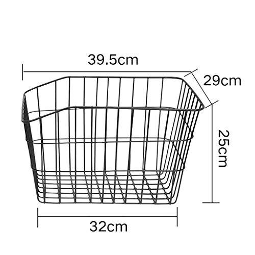 Check Out This Bike Basket - Universal Bicycle Rack Basket - Pannier in Anti Rust Plastified Metal f...