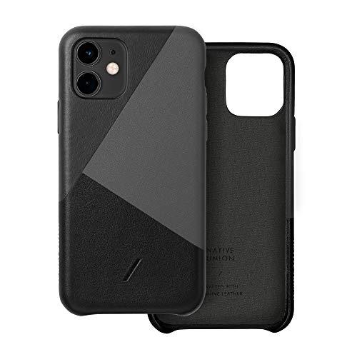 Native Union CLIC Marquetry Hülle für iPhone 11 - Italienisches Nappaleder-Cover - Kompatibel mit iPhone 11 (Schwarz)