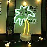 insegne al neon con albero di cocco a led con luce decorativa per base di supporto, decorazioni tavolo per natale, festa di compleanno,camera dei bambini,soggiorno,decorazioni per feste di nozze