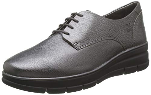 24 HORAS 24292, Zapatos de Cordones Brogue Mujer, Gris (Plomo 9), 39 EU