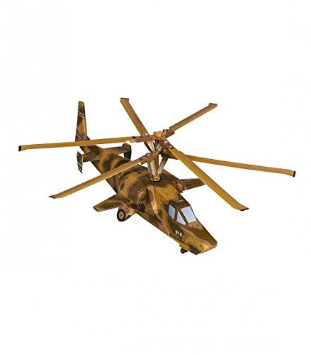 UMBUM Innovateur 3D Puzzle - Hélicoptère d'attaque KA-50 - Сasse-tête innovateur de Série Aviation by Clever Paper