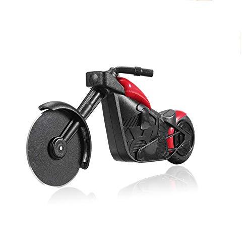 shuny-Motorrad-Pizzaschneider,Edelstahl-Pizzaschneider,Kunststoff-Motorrad-Radschneider