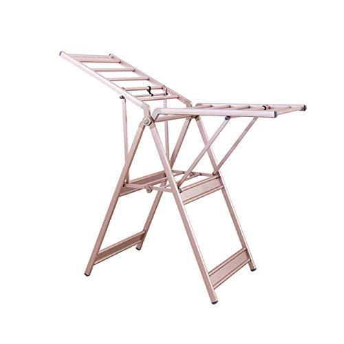 Aiaoi Tendedero, Tendedero Plegable Aleación De Aluminio Espacial No Se Oxida Impermeable Casa, Oro (Color : Rose Gold, Size : 152cm × 60.5cm)