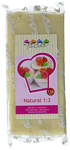 FunCakes Marzipan Natural 1:3 Ready-to-Roll, 1er Pack (1 x 1 kg)