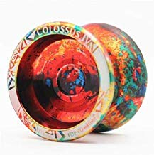 CCCSEE Topyo Colossus Alloy Aluminum Professional Yoyo Toy Ball with Ball Bearing Axle String High Performance Fingerspin yoyos (Erosion)