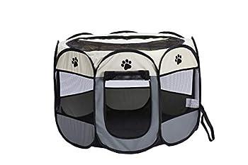 Smoro Chien de Compagnie Chat Chat Parc Cage Cage Portable Exercice Pliant chenil pour Une Utilisation intérieure et extérieure