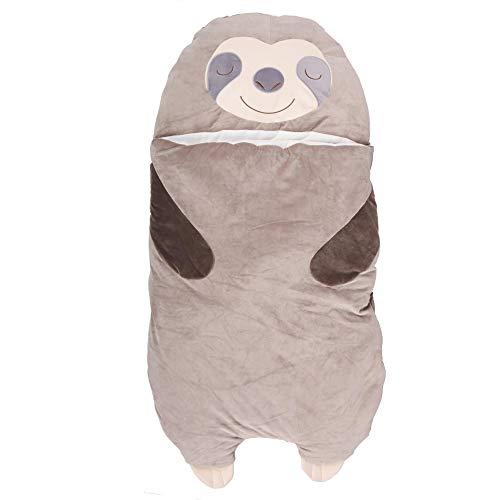 UNUS Faultier Schlafsack für Kinder, Kuscheldecke für Mädchen und Jungen, Kinderschlafsack (groß)
