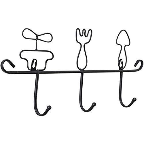 YZERTLH Percheros Pared Color sólido Estilo nórdico Lindo Diseño Hogar Gancho Vajilla Forma Clave Gancho Ropa Delantal Estante Gancho Pared (Color : A)