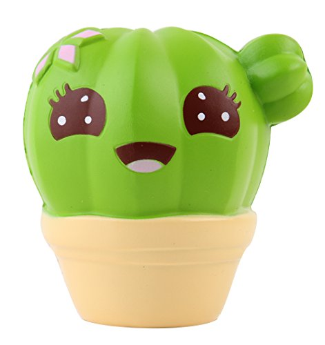 Anboor Squishies Kaktus Langsam Steigend Squeeze Spielzeug Antistress Squishies Slow Rising Spielzeug Kawaii für Kinder Erwachsene (Farbe zufällig, 10*4*10,5cm, 1 Stück)