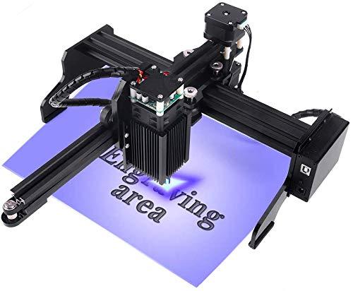 Máquina de grabado láser JL1 7000mW para principiantes, con área de trabajo de 22X12 cm Supergrabador de fácil instalación y operación para tallar y cortar madera plástica (7W)
