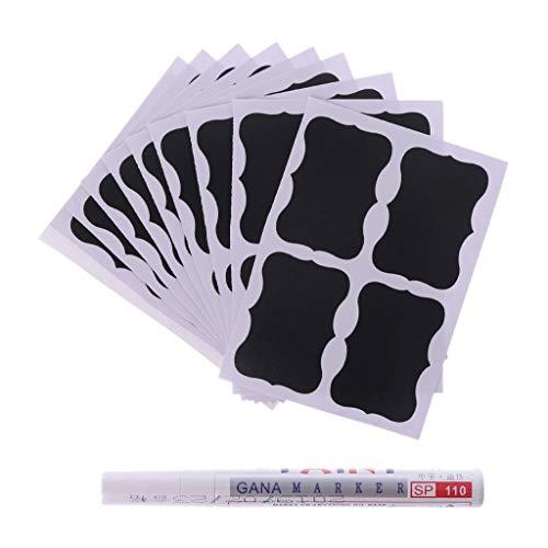 niumanery Chalkboard Blackboard Chalk Board Sticker Craft Kitchen Jar Stickers Pen Cup Jam Organiseren B.