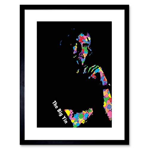 Wee Blue Coo Painting Billy Connolly Abstract Splatter Framed Wall Art Print