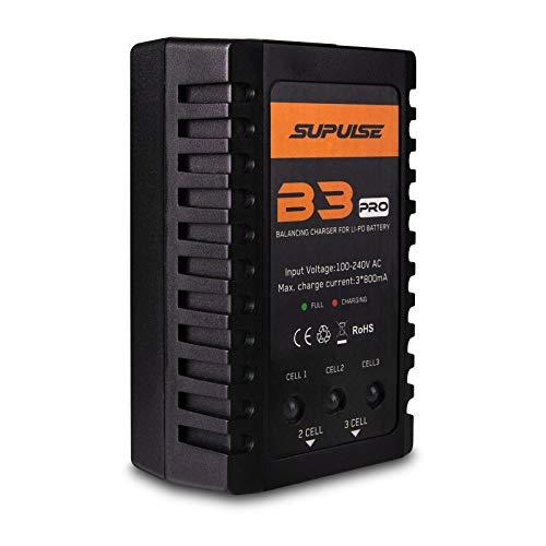 Sirecal Cargador de Batería LiPo Cargador de Equilibrio RC B3AC Pro Cargador de Batería Compacto AC 110-240V para 2S 3S 7,4V 11,1V Paquete de Batería Lipo