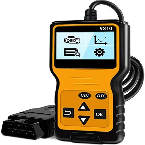 CG V310 OBD2 Diagnosegerät Universal Auto Fehler Auslesegerät Fahrzeug Codeleser Scanner mit HD LCD-Bildschirm für alle OBDII-Automotoren