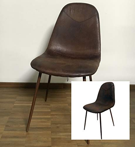 Kunstleder Polsterstuhl Schalenstuhl Esszimmerstuhl Küche Esszimmer Stuhl Stühle (Braun)