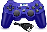 PS3 Controller Wireless Double Shock Gamepad for Playstation 3, Six-axis Wireless PS3 Controller