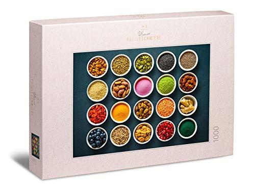 Ulmer Puzzleschmiede - Puzzle Superfood: Puzzle de 1000 Piezas - Motivo de Especias para Principiantes y Profesionales