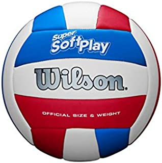 Wilson Super Soft Play Volleyball - White/Red/Blue