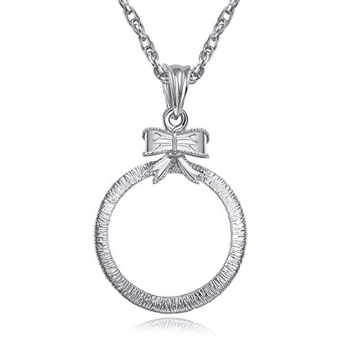 Halskette Glas 5X Hohldiamant Huadiao kann Anhänger Retro Ornament Geschenk Pullover Kette Leselupe öffnen