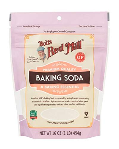 One 16 oz Bob's Red Mill Baking Soda (Pack of 2)