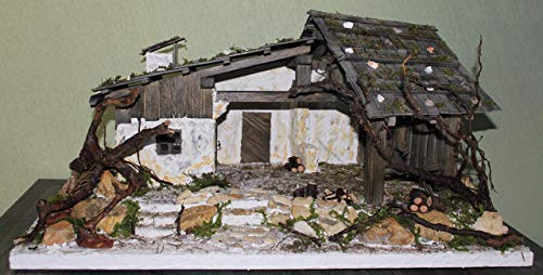 ALPENLÄNDISCHE KRIPPE Weihnachtskrippe aus Holz Krippenstall