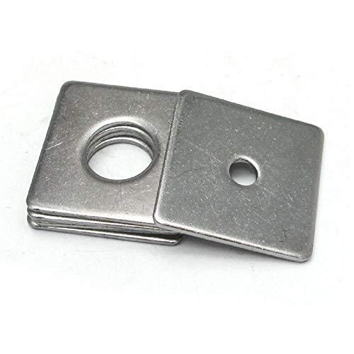 Edelstahl 304, Vierkantdichtung, Vierkant-Unterlegscheibe, Vierkant-Unterlegscheibe, M3-M16-M4 * 20 * 1 (20 Stück)