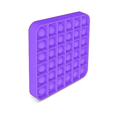 EUROXANTY Juguete sensorial Pop-it | Antiestrés | Juego Entretenimiento | Lavable | Motricidad Fina | 12 x 12 cm Morado de EUROXANTY