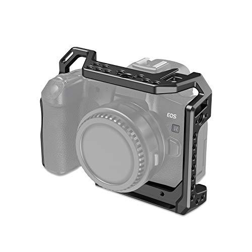 (Nueva Versión) SMALLRIG EOS R Cage Jaula Compatible con Canon EOS R, Cage con Cold Shoe Incorporada y Diseño Anti-torsión - CCC2803