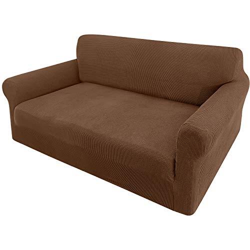 Granbest Funda de sofá extensible Jacquard 1 pieza funda de sofá de 2 plazas con reposabrazos funda de sofá (2 plazas, caja)