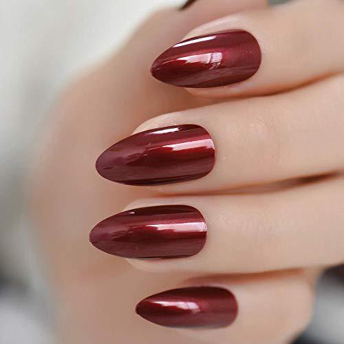 YQSL Falsche Nägel Ansprechende rojoe Acrylnagelspitzen Stiletto-Vollnägel Glänzende UV-Gel- Fingernägel- Klebestreifen 24 Ct