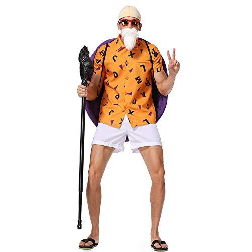 Dragon Ball Z Master Cosplay Kostüme Erwachsene Anime Spiel Cosplay Kostüm Für Weihnachtsfeier, Halloween Maskerade, Karneval, Cosplay Party, Kostümball, Themenparty, M,Orange,XL