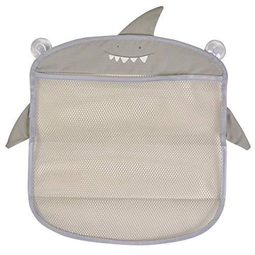 収納 収納ケース 雑貨 メッシュ 吸盤 おもちゃ入れ 子供 バスネット お風呂 バスグッズ (サメ)