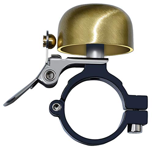 Bike Bell, Classic Brass with Nice Sound, Road/Mountain Bicycle Accessory - Gold