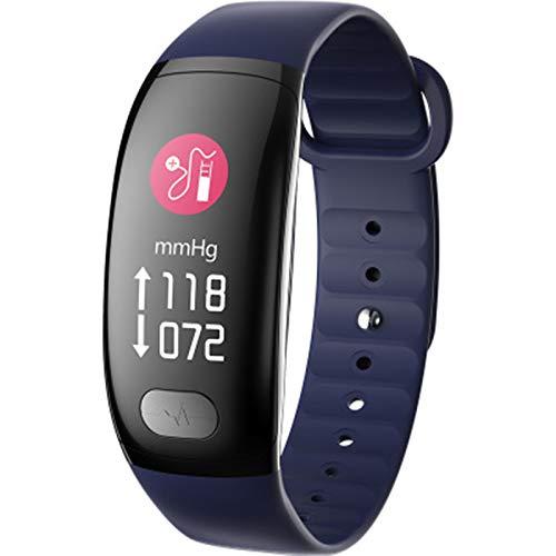 B51 Smart Watch Women Sport Fitness IP67 Pantalla de Color a Prueba de Agua Hombres Bluetooth Muñeca de presión Arterial Reloj de Pulsera para iOS Android,C