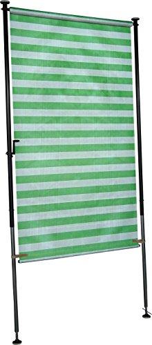Angerer Balkon Sichtschutz Blockstreifen grün-weiß, 120 cm breit, 2318/1003