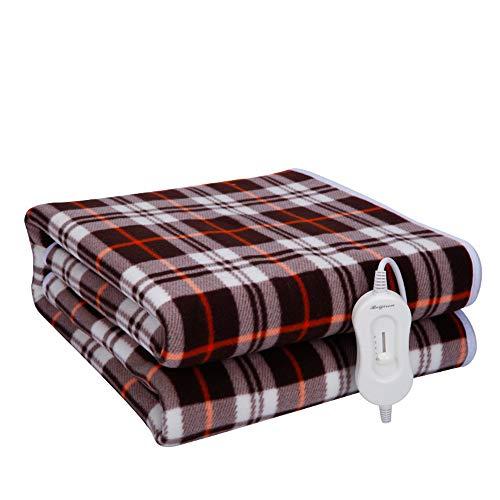 Elektrische verwarmingsdeken met oververhittingsbeveiliging van de verwarmingsdeken 150 cm x 70 cm en 3 temperatuurniveaus voor het bed – rood