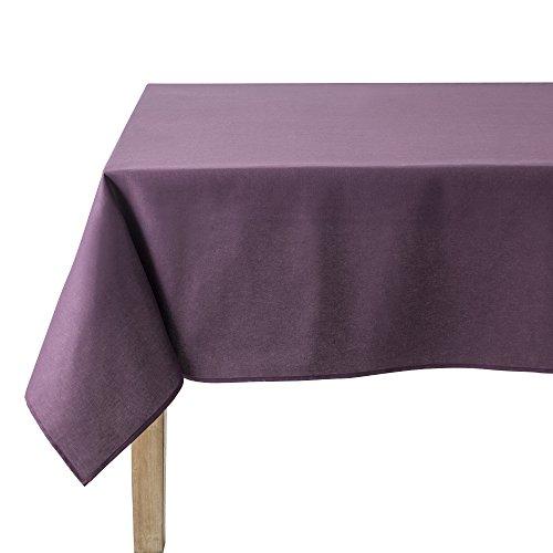 Coucke Nappe Ronde Uni Aubergine Coton 180 cm