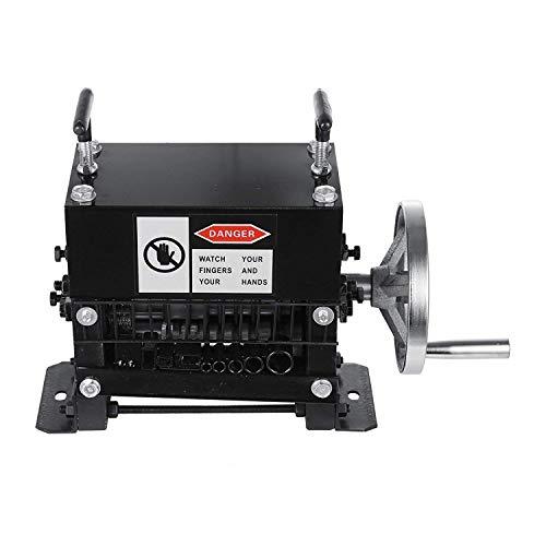 Mophorn 0,06-0,8 Zoll Kabel Abisoliermaschine für 1,5 mm-20 mm Manueller Durchmesser Abisoliermaschine 1 Schneidmesser Elektrische Abisolierzange zum Schneiden und Abisolieren von Altkupferdraht