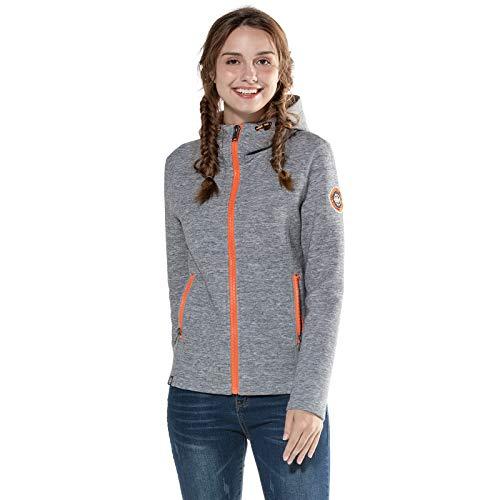 Extreme Pop Womens Scuba Jacken Kapuzenjacke Hoodie Sweatshirts UK Stock Grey Navy (Grau, L)
