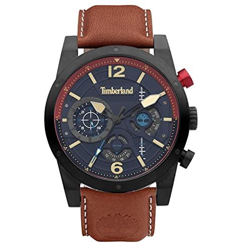 Timberland Reloj Analógico para Hombre de Cuarzo con Correa en Cuero TDWGF2100003