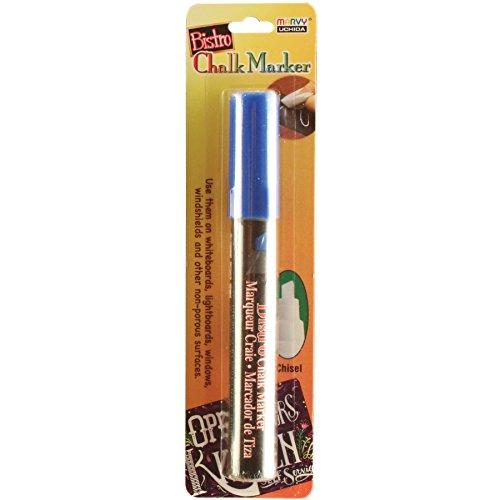 UCHIDA 483-C-3 Chisel Tip Bistro Chalk Marker, Blue