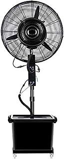 Ventilador industrial oscilación de la base del ventilador exterior atomizado humidificador de vapor abanico de pulverización altura de pie ventiladores de pedestal ajustable, velocidad 3 42 l tanque,