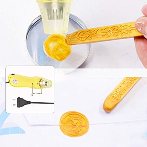 Astibym Pistolas de Aire Caliente Herramientas artesanales de plástico retráctil de conveniencia(Yellow, Pink)