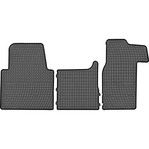 Prismat Gummimatten Gummi Fußmatten Satz für Opel Movano (2010-2020) / Renault Master (2010-2020) / Nissan NV400 (2010-2020) - Passgenau